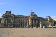 The Royal Palace in Brussels. Belgium Stock Images