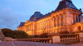 The Royal Palace of Brussels. Night shot of The Royal Palace of Brussels, Belgium Stock Photos