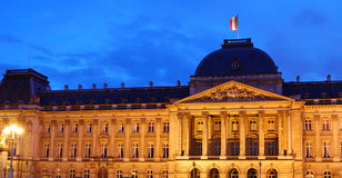 The Royal Palace of Brussels. Night shot of The Royal Palace of Brussels, Belgium Royalty Free Stock Photo