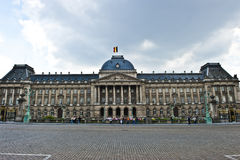 Royal Palace in Brussels. A wide shot of the facade of the Royal Palace in Brussels Stock Photo