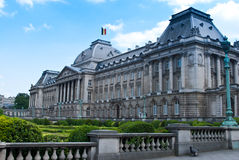 Royal palace in Brussels. With park Royalty Free Stock Image