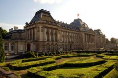 Royal palace in Brussels. With park Stock Images