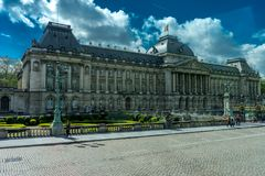 The Royal Palace of Brussels, Belgium. Europe on a bright summer day with blue sky Royalty Free Stock Photos