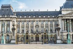 Royal Palace of Brussels in Brussels, Belgium Royalty Free Stock Image