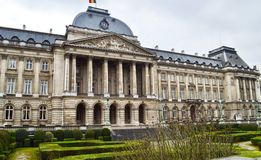 The Royal Palace of Brussels, Belgium Koninklijk Paleis, Palais Royal de Bruxelles. The building is the official palace of the King and Queen of the Belgians in Stock Image