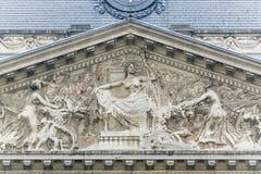 Royal Palace of Brussels, Belgium. The Palais Royal de Bruxelles or Koninklijk Paleis van Brussel (Royal Palace of Brussels), the official palace of the King Royalty Free Stock Photo