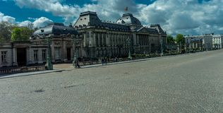 The Royal Palace of Brussels, Belgium. Europe on a bright summer day with blue sky Stock Photo