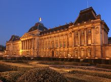 Royal Palace of Brussels, Belgium. Viewed from the  Park of Brussels : The Royal Palace, the official palace of the King of the Belgians in the centre of the Stock Photography