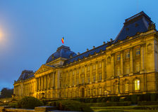 The Royal Palace of Brussels at night. Belgium Royalty Free Stock Image