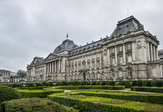 Royal palace brussels. Royal palace in Brussels with park Stock Image