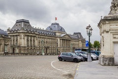 The Royal Palace in Brussels. This is square Palais and the facade of residence of the King of Belgium - Royal Palace May 10, 2013 in Brussels, Belgium Stock Image