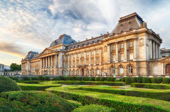 Royal Palace in Brussels in summer day, Belgium Royalty Free Stock Photos
