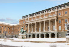Royal palace of Buadapest, Hungary Royalty Free Stock Photos