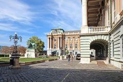 Royal Palace in Buda Castle in Budapest Stock Image