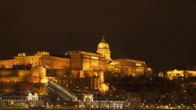 Royal Palace Buda Castle. Night time Budapest. Hungary stock photography