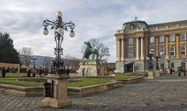 Royal Palace Buda kasztel Grodowy wzgórze okręg obraz stock