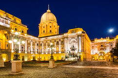 Royal Palace of Buda in night, Budapest Royalty Free Stock Photography