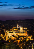 Royal Palace of Buda in night, Budapest Stock Photos