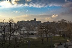 Royal Palace Budapest imagenes de archivo