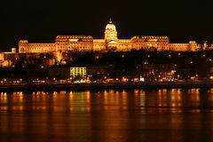 Royal Palace in Budapest. Nighttime of Buda castle in Budapest, Hungary royalty free stock image