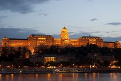 Royal palace of budapest Stock Images