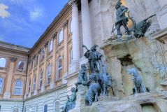The Royal palace in Budapest Royalty Free Stock Photography