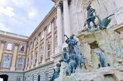 The Royal palace in Budapest Stock Photography