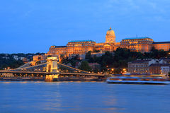 Royal Palace of Budapest Stock Photography
