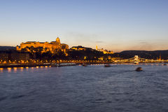 Royal Palace, Budapest, evening Royalty Free Stock Photo