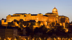 Royal Palace, Budapest in the evening Royalty Free Stock Images