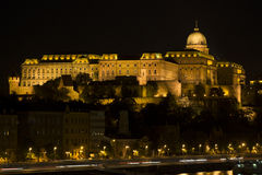 Royal Palace, Budapest in the evening Stock Photo