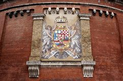 Royal Palace. Budapest, Hongrie. Image stock