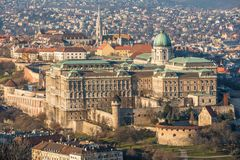 Royal Palace in Budapest, Hungary Royalty Free Stock Images