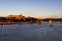Royal Palace, Budapest, nivelando Foto de Stock Royalty Free