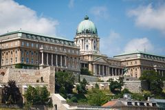Royal Palace in Budapest Royalty Free Stock Photography
