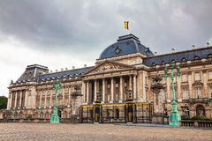 Royal Palace bulding facade in Brussels Royalty Free Stock Images