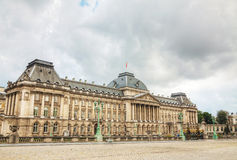 Royal Palace bulding facade in Brussels Stock Image