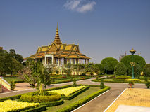 Royal Palace, Cambodia. Royal Palace complex, Moonlight Pavilion, Phnom Penh, Cambodia Royalty Free Stock Images
