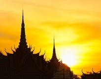 The royal palace, Cambodia. Royalty Free Stock Image