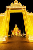 Royal Palace Cambodia at night, Phnom Penh, Cambodia. The Royal Palace is a complex of buildings which serves as the royal residence of the king of Cambodia Stock Images