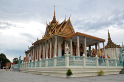 The Royal Palace of Cambodia. PHNOM PENH, CAMBODIA - OCT 22, 2016: The Royal Palace is a complex of buildings which serves as the royal residence of the king of Royalty Free Stock Photos