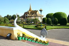 Royal Palace in Phnom Penh Cambodia. Royal Palace in the capital of Cambodia Royalty Free Stock Photography