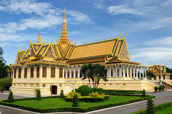Royal palace in the capital city of Cambodia in Phnom Penh Stock Photography