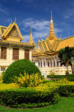 Royal palace in the capital city of Cambodia in Phnom Penh Royalty Free Stock Photos