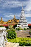 Royal palace in the capital city of Cambodia in Phnom Penh Royalty Free Stock Photo