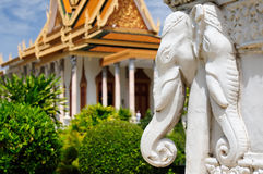 Royal palace in the capital city of Cambodia in Phnom Penh. The Royal Palace in Phnom Penh, Cambodia, is a complex of buildings which serves as the royal Royalty Free Stock Photography