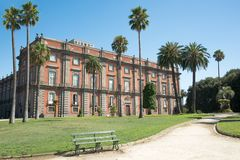 Royal Palace of Capodimonte, Naples Royalty Free Stock Images