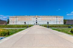 The Royal Palace of Caserta Italian: Reggia di Caserta. CASERTA, ITALY. October 29, 2017: The Royal Palace of Caserta Italian: Reggia di Caserta. former royal Stock Photo