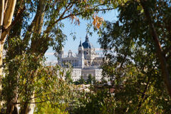 Royal Palace and Cathedral - Madrid Spain Royalty Free Stock Photography