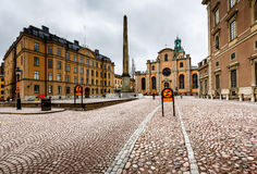 Royal Palace and Cathedral of Saint Nicholas (Storkyrkan) Stock Photo